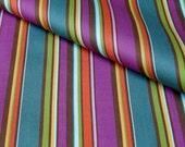 Deep Bright Stripe Organic Cotton Sateen - Fat Quarter
