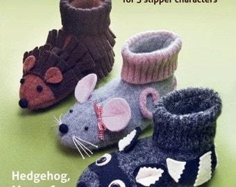 Forest Friends Slippers - PDF PATTERN