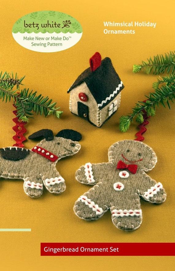 Gingerbread Ornament Set - PDF PATTERN