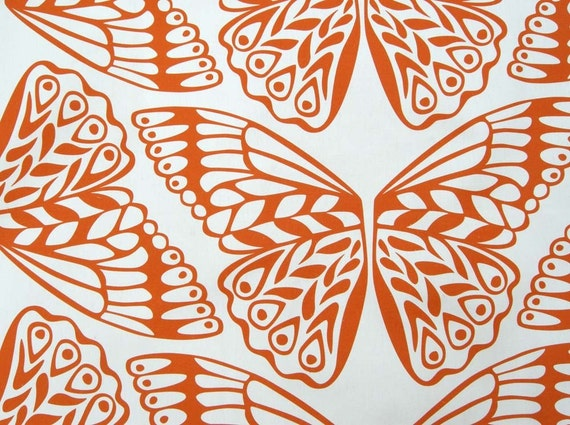 Moth Organic Canvas in Sunset - Fat Quarter