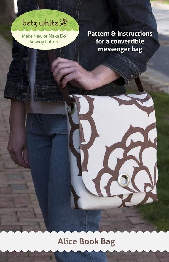 Alice Book Bag PDF Sewing Pattern