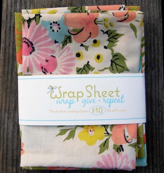 Wrap Sheets - reusable gift bags SET of 3