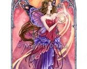 Summer Sun, Flower fairy art print, Faerie Queen, limited edition - Four Seasons set