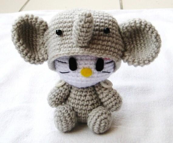 Hello Kitty Halloween Amigurumi : RAEWADOLLY Amigurumi Kawaii Hello Kitty in Elephant by ...