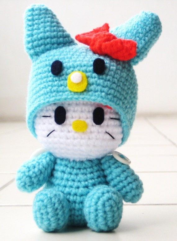 RAEWADOLLY Amigurumi Hello Kitty in Bunny Costume