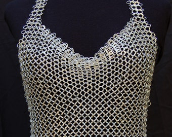 Sterling Chainmail Halter Top
