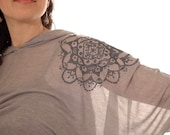 Willabelle Lace Bat Wing Hoodie Top