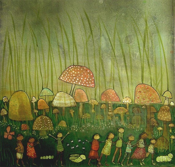 The Greeners, original painting