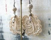 ON SALE Faded Rose earrings