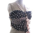 Tribal Polka Dot Safari Top, Jungle Gypsy, Bohemian, Shell, Halter, Leopard, Vintage Lace, Boho Clothing