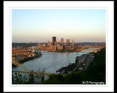 Skyline of Downtown Pittsburgh 10b -  8x10 matted photo