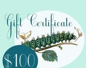 100 Dollar Gift Certificate to Neile - Butterfly Jewelry