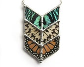RESERVED for KELLEY - Chevron Tribal Butterfly Necklace