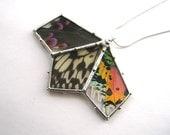 Specimen Necklace - Real Butterfly Fan