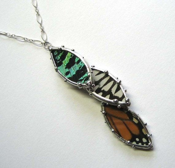 Three Petals Butterfly Necklace