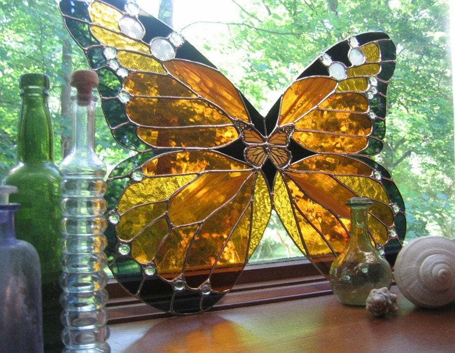 Monarch Butterfly Stained Glass