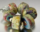 KILLERBEEDZ1 - Coral Reef - 6 Barrel  Lampworked Beads