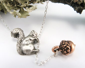 Gathering Nuts Necklace