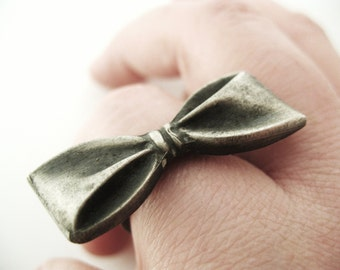 Bow Ring - Hand Cast Sterling Silver