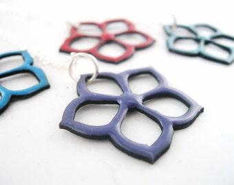 Enameled Kikyo Pendant - Your Choice of Colors