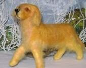 Golden Retriever, felted OOAK dog by Corky