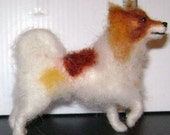 Papillon, ooak felted dog by Corky for your doll