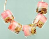 PRE-ORDER Set of 5 Handmade Boro Borosilicate Lampwork Glass Beads