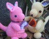 Wallaby joey - crochet pattern