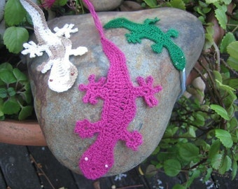 Australian Reptiles of the Land- Geckos, Lizards and Snakes crochet patterns for bookmarks and motifs