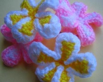 Frangipani Flowers crochet pattern