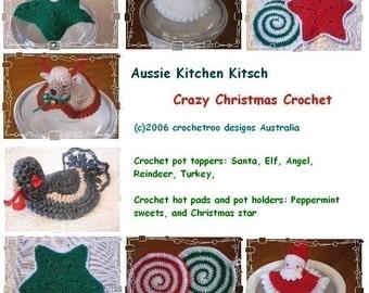 Crazy Christmas Crochet, Aussie Kitchen Kitsch (crochet patterns)