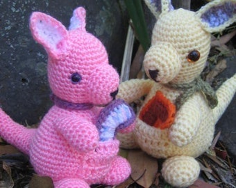 Wallaby joey - crochet pattern