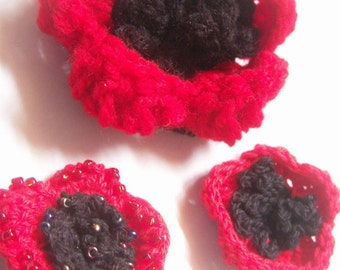 ANZAC Poppy (crochet pattern)  PIF pay it forward
