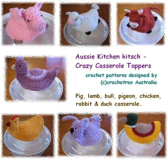 Crazy Casserole Pot Toppers - Crochet pattern