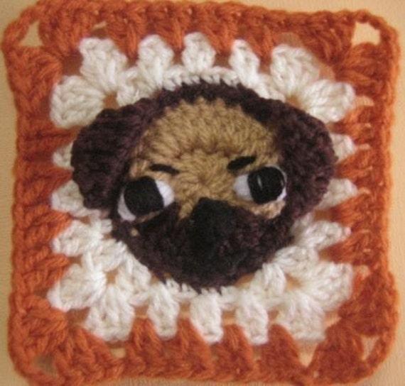 Pug Rugalugs Square Crochet Pattern