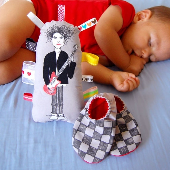 Robert Smith Softie and New Wave Baby Booties Gift Set