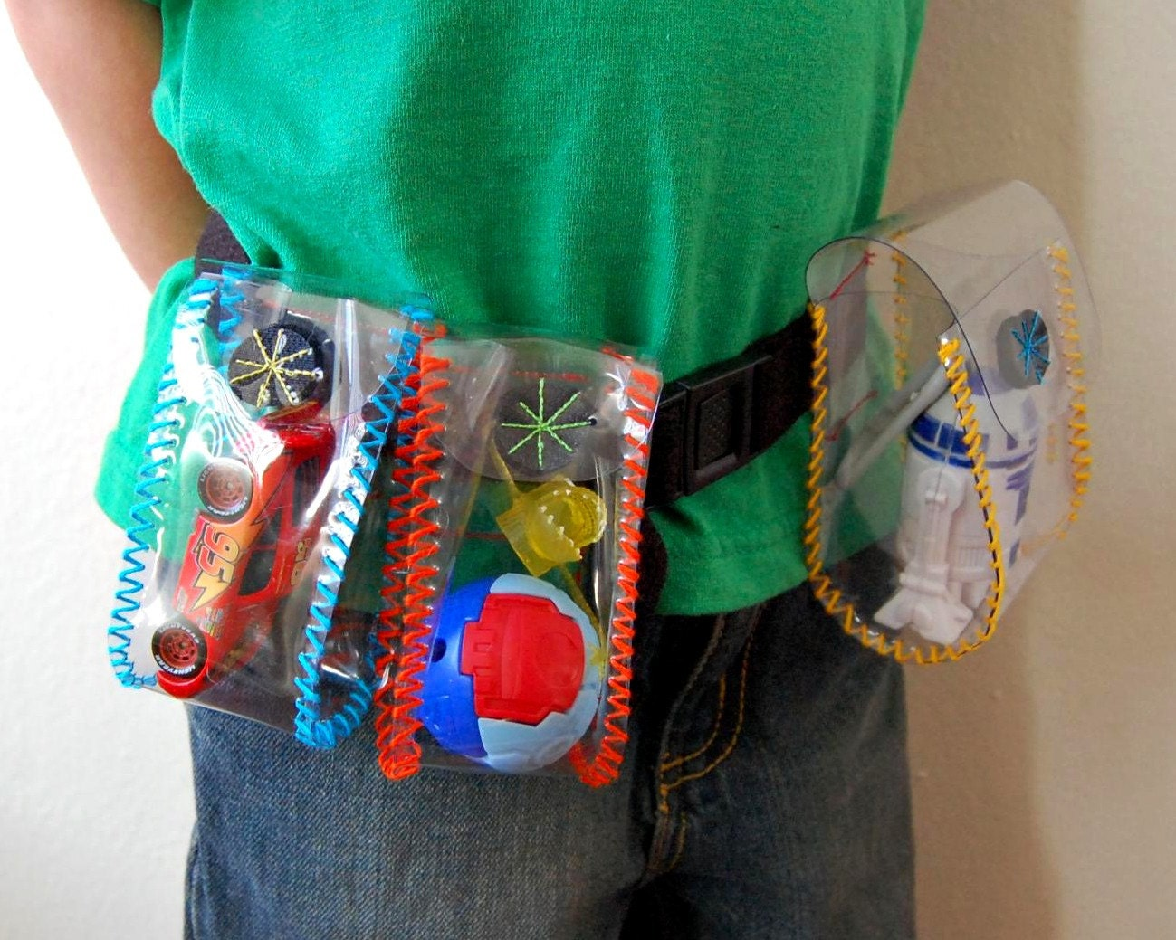 Clear Vinyl Toy Holster Utility Belt By Marigoldhaske On