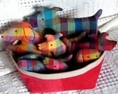 Dog Family Set - Little Softies - EMAIL PDF sewing pattern, Dog pattern, Small stuffed toys, Scrap Savers sewing pattern, Plush Dogs