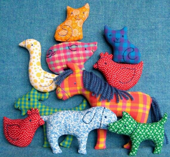 Big Farm Set Little Softies Sewing Pattern Instant