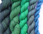 Yarn Pirate Hand Dyed Yarn-- Malachite
