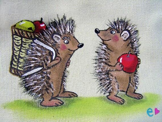 ON SALE- Hedgehog Harvest Handbag