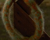 Orange and green Bangle Bracelet