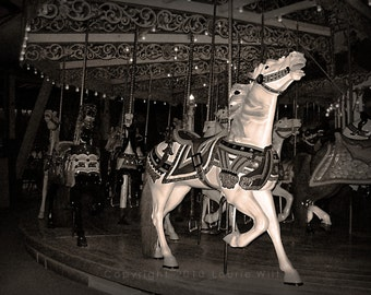 Grand Carousel - 16x20 Limited Edition 4 of 100 B and W Photograph
