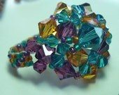 WonderDome Ring Purple, Topaz and Blue Zircon Crystals