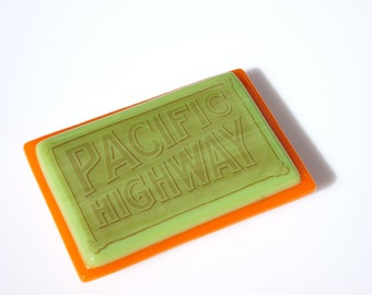 Handmade PACIFIC HIGHWAY Brooch Free Shipping (to USA)