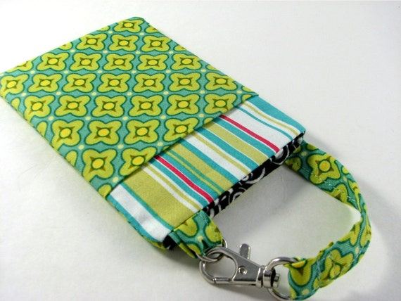 iPhone 5 Fabric Case, 4, 4S, Samsung Galaxy sii, Cell Phone Case in Tiled Primrose