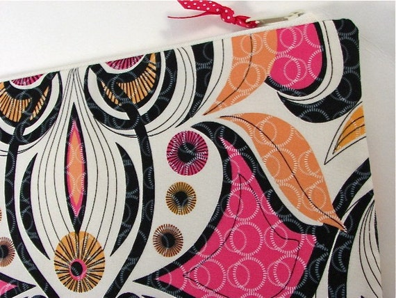 MacBook Air 11 Padded Netbook Sleeve Case Cover in Hot Couturier Hibiscus