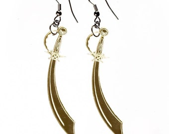 Gold Cutlass Earrings