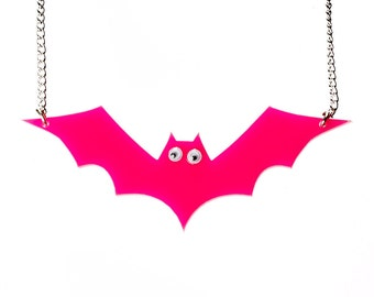 Pink Bat Necklace
