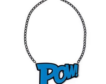POW Necklace in Blue